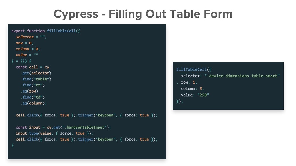 Cypress - Filling Out Table Form