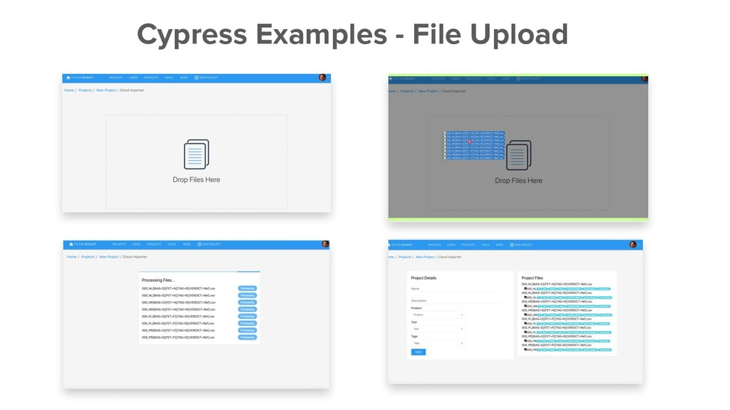 Cypress Examples - File Upload