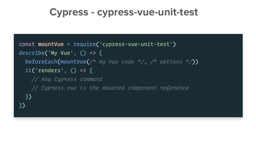 Cypress - cypress-vue-unit-test