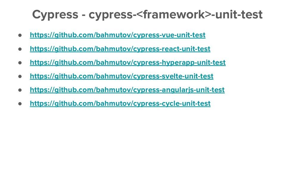 ● https://github.com/bahmutov/cypress-vue-unit-...