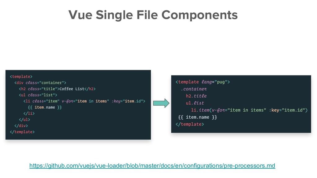 Vue Single File Components https://github.com/v...