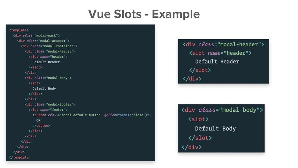 Vue Slots - Example