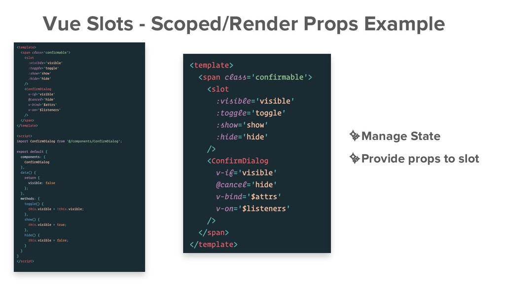 Vue Slots - Scoped/Render Props Example ✨Manage...