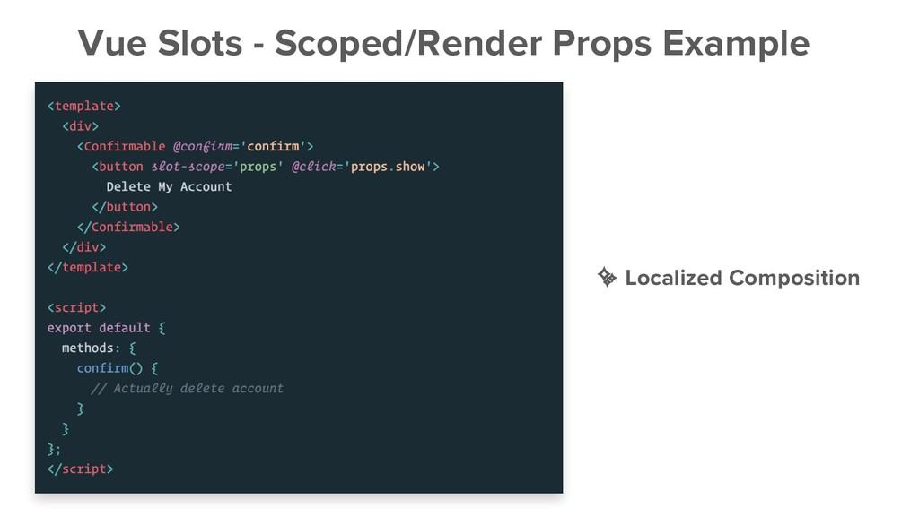 Vue Slots - Scoped/Render Props Example ✨ Local...