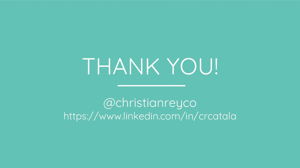 THANK YOU! @christianreyco https://www.linkedin...