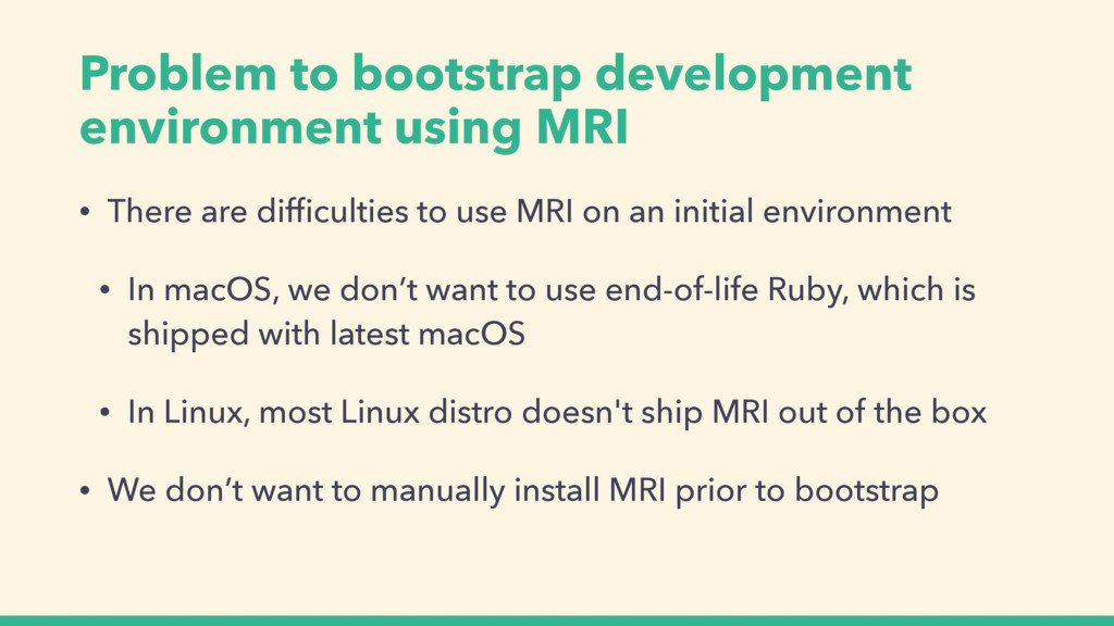 Problem to bootstrap development environment us...