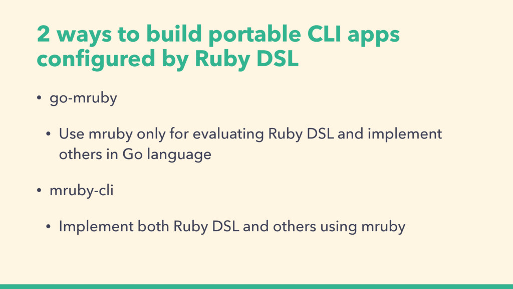 2 ways to build portable CLI apps configured by ...