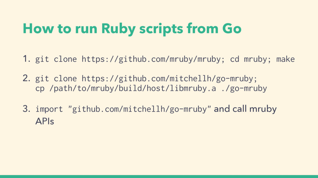 How to run Ruby scripts from Go 1. git clone ht...