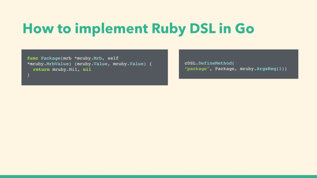 How to implement Ruby DSL in Go func Package(mr...
