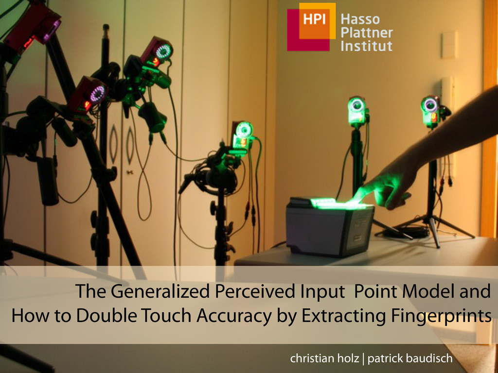 The Generalized Perceived Input Point Model and...