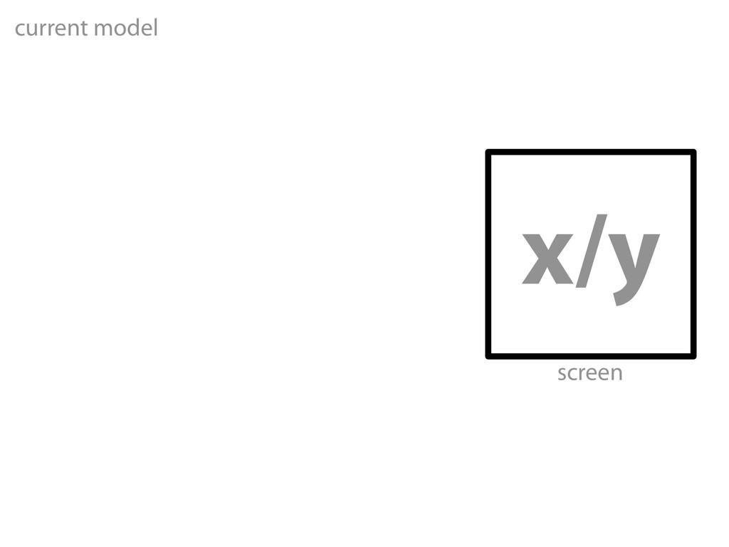 x/y current model screen