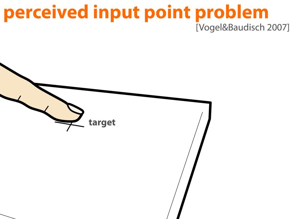 perceived input point problem target [Vogel&Bau...