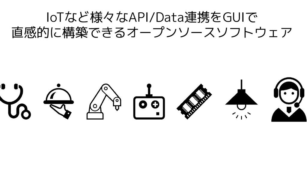 IoTなど様々なAPI/Data連携をGUIで 直感的に構築できるオープンソースソフトウェア