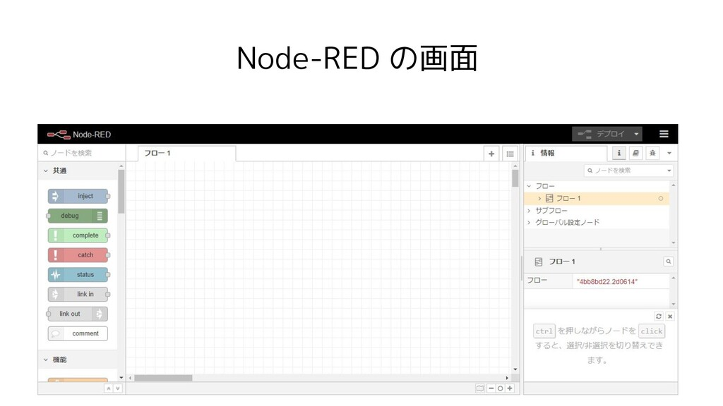 Node-RED の画面