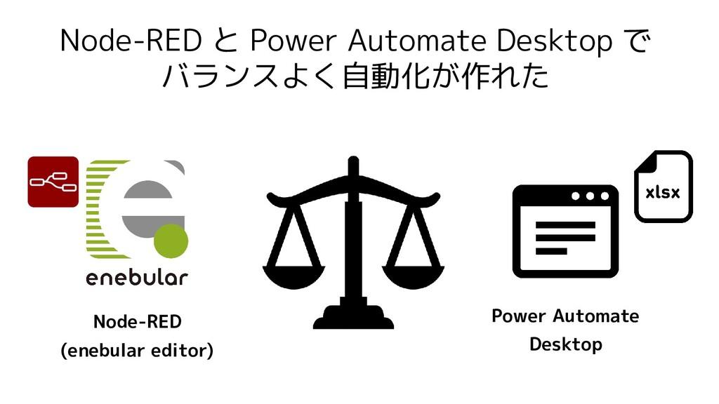 Node-RED と Power Automate Desktop で バランスよく自動化が作...