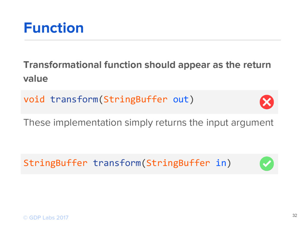 32 Transformational function should appear as t...