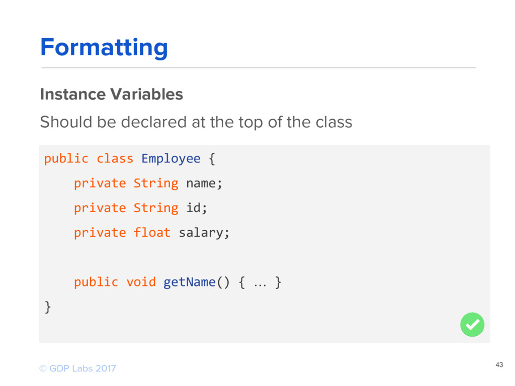 43 public class Employee { private String name;...