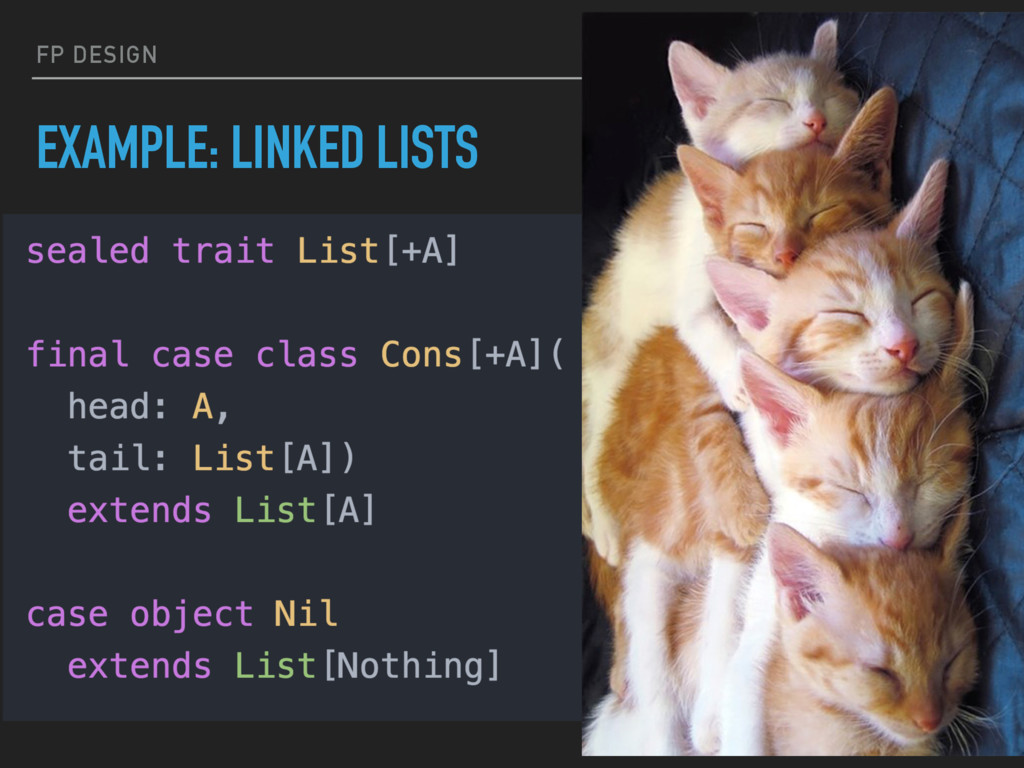 FP DESIGN EXAMPLE: LINKED LISTS