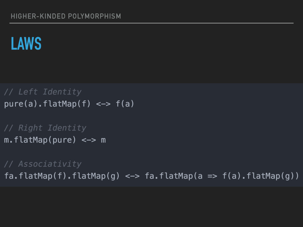 HIGHER-KINDED POLYMORPHISM LAWS