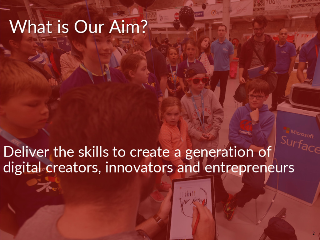 Deliver the skills to create a generation of di...