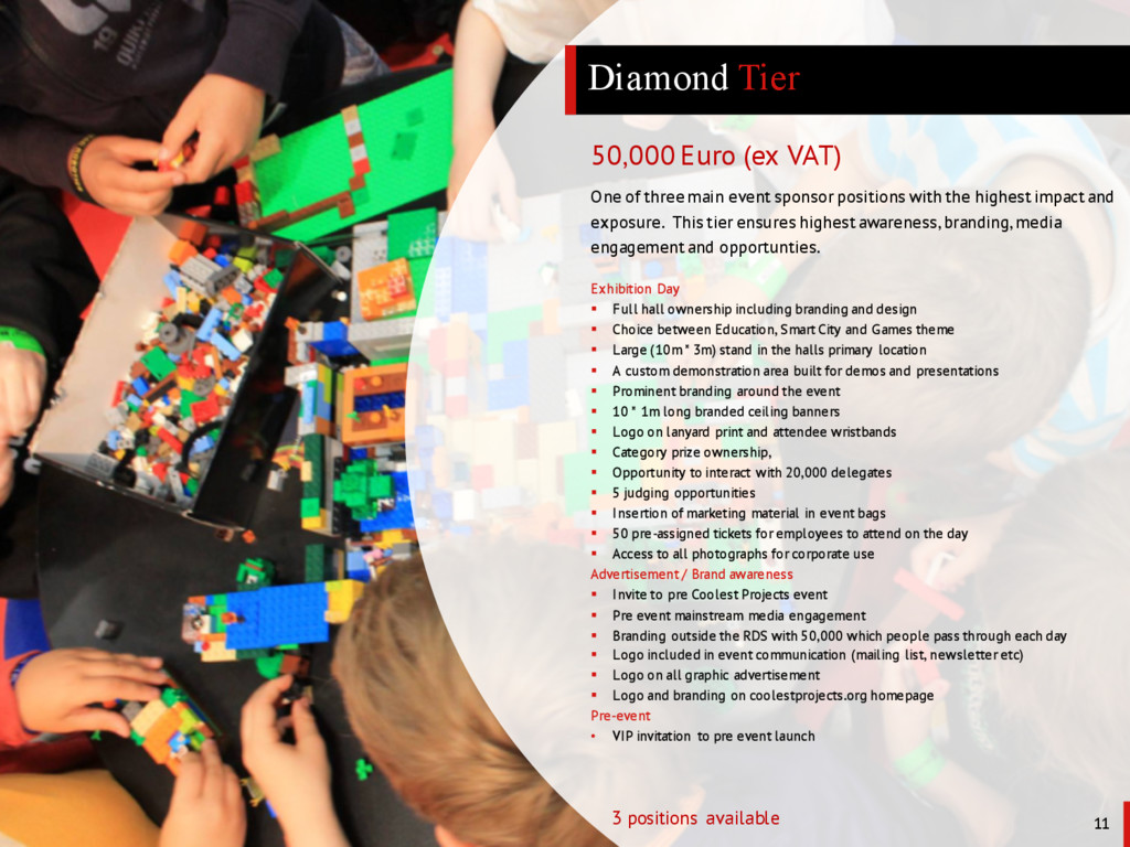 Diamond Tier 11 3 positions available One of th...