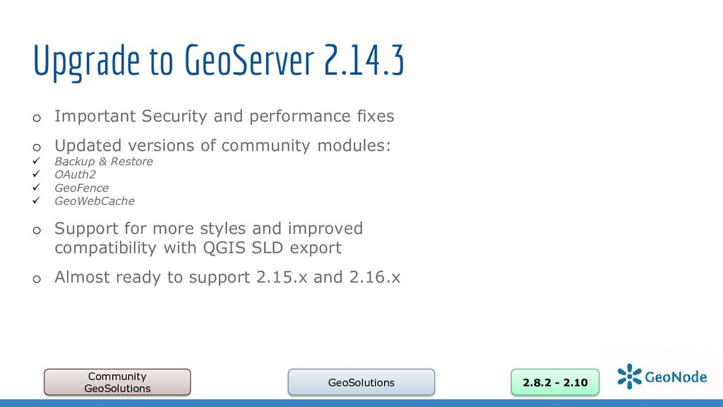 Upgrade to GeoServer 2.14.3 o Important Securit...