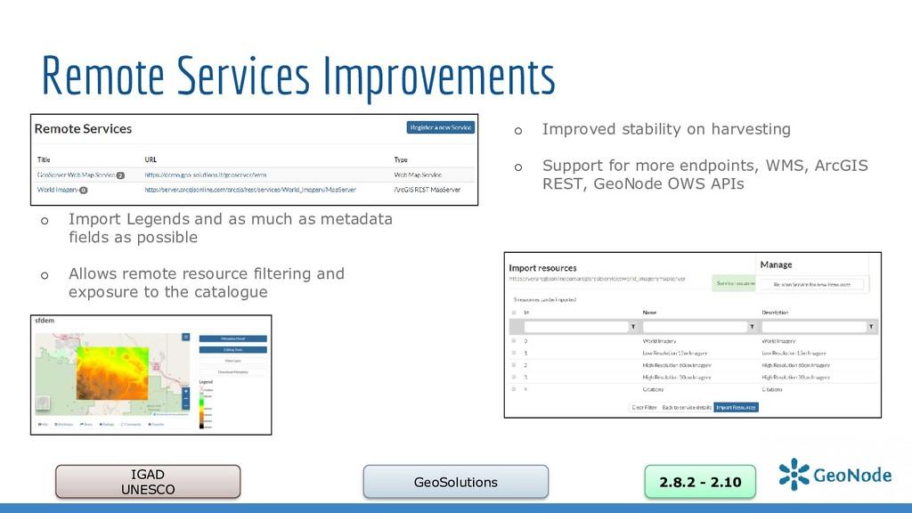 Remote Services Improvements IGAD UNESCO GeoSol...