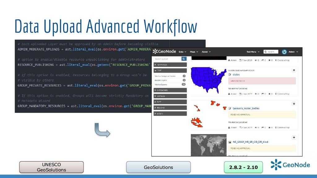 Data Upload Advanced Workflow UNESCO GeoSolutio...