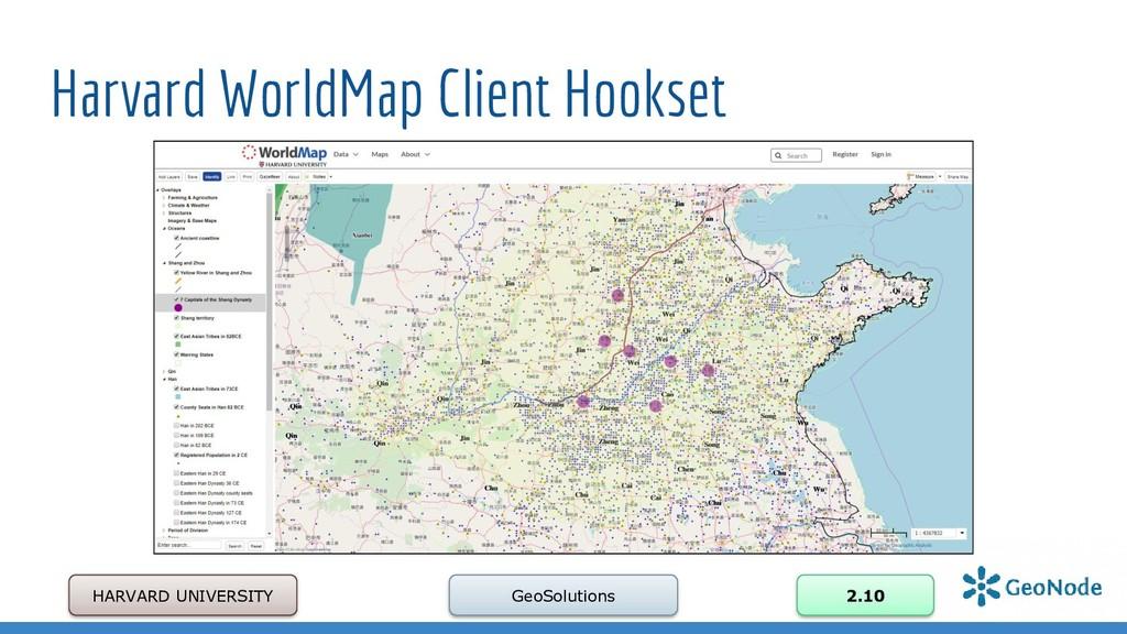 Harvard WorldMap Client Hookset HARVARD UNIVERS...