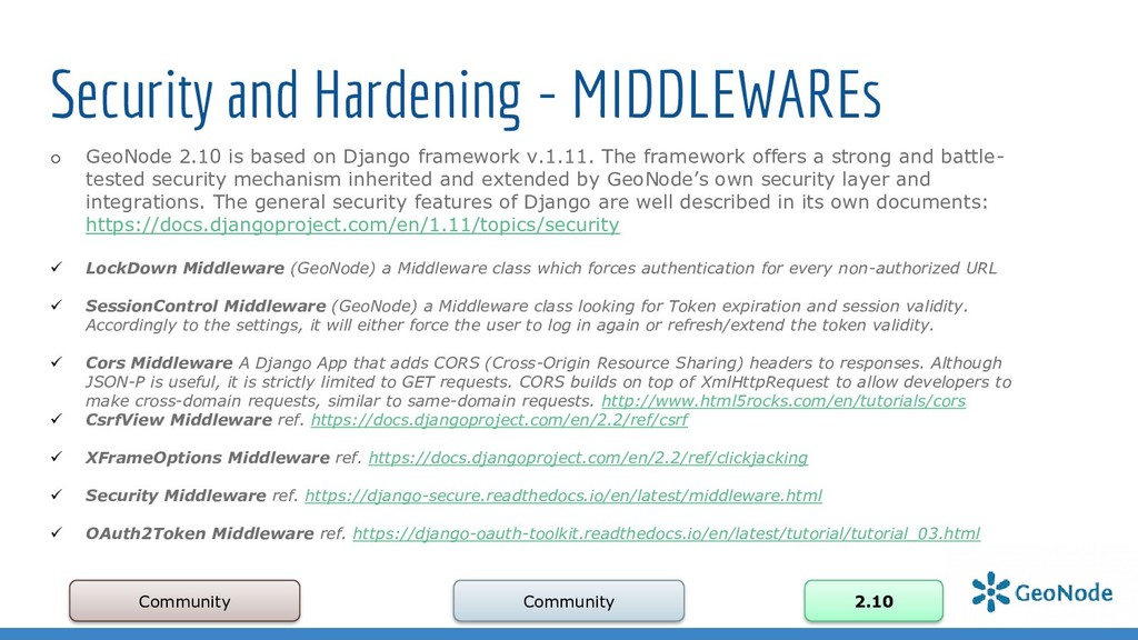 Security and Hardening - MIDDLEWAREs Community ...
