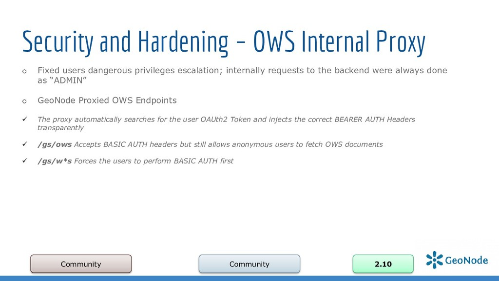 Security and Hardening – OWS Internal Proxy Com...