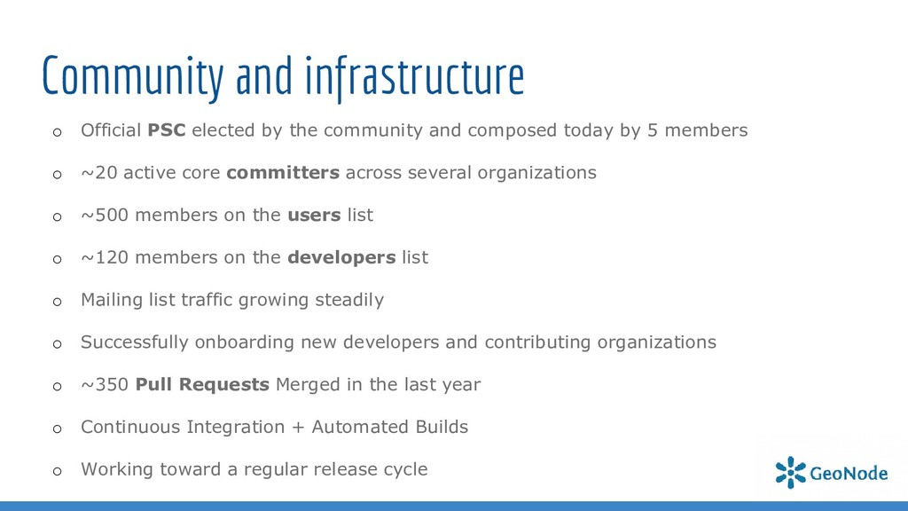 Community and infrastructure o Official PSC ele...