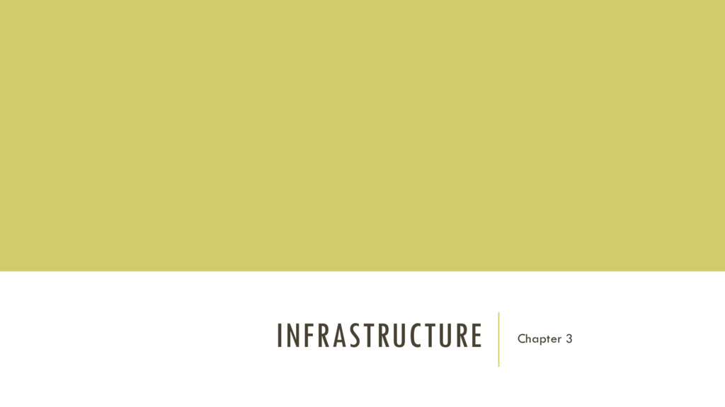 INFRASTRUCTURE Chapter 3