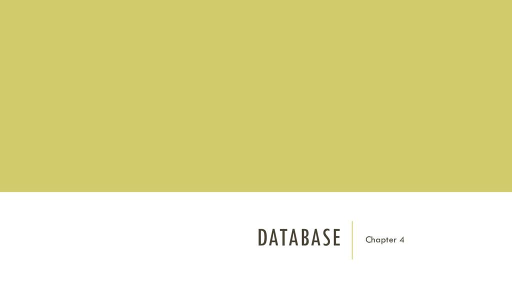 DATABASE Chapter 4