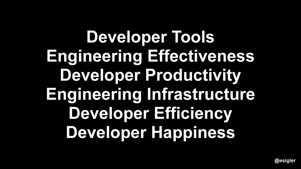 Developer Tools Engineering Effectiveness Devel...