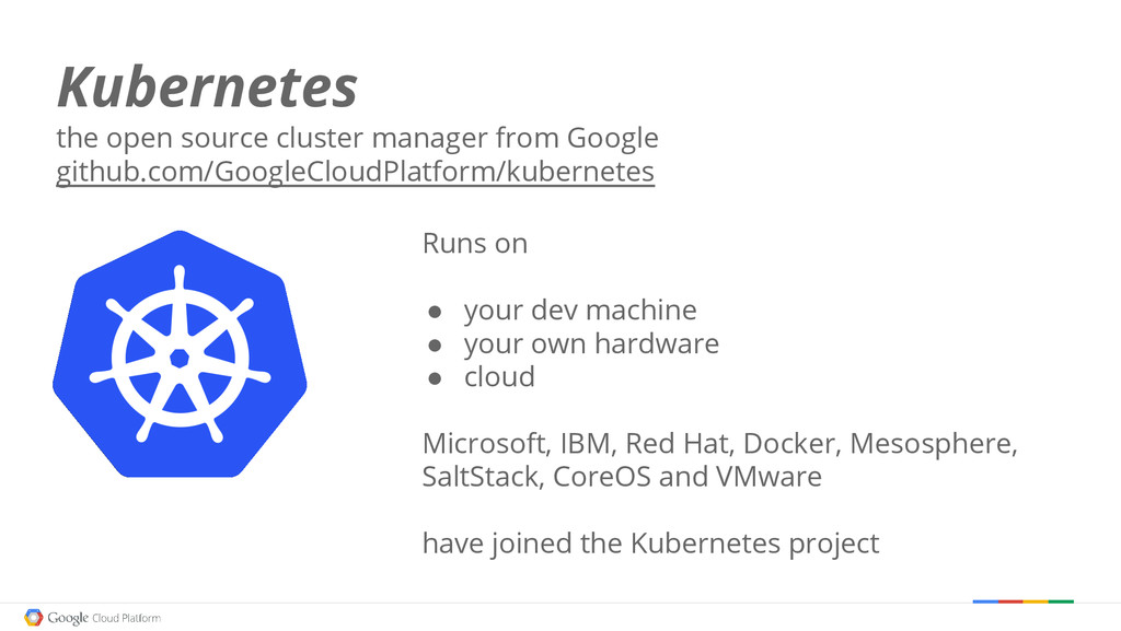 Kubernetes the open source cluster manager from...