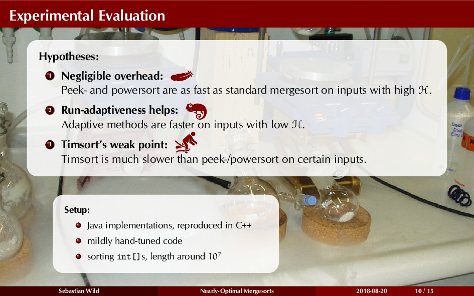 Experimental Evaluation Hypotheses: 1 Negligibl...