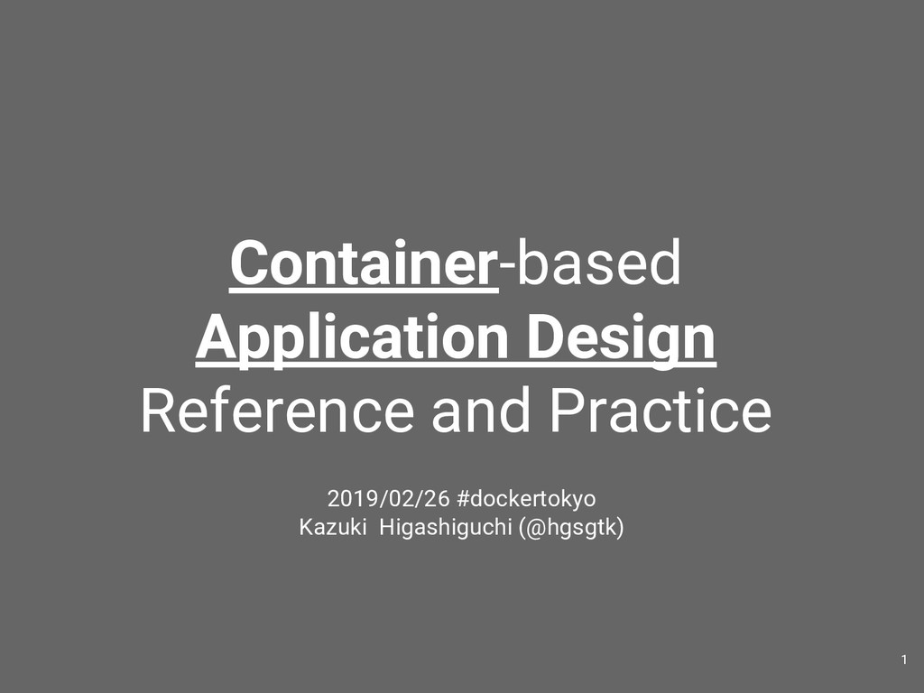 Container-based Application Design Reference an...
