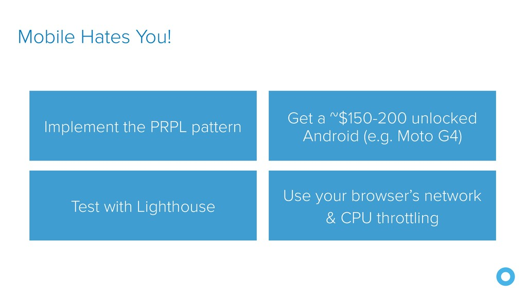 Use your browser's network & CPU throttling Mob...