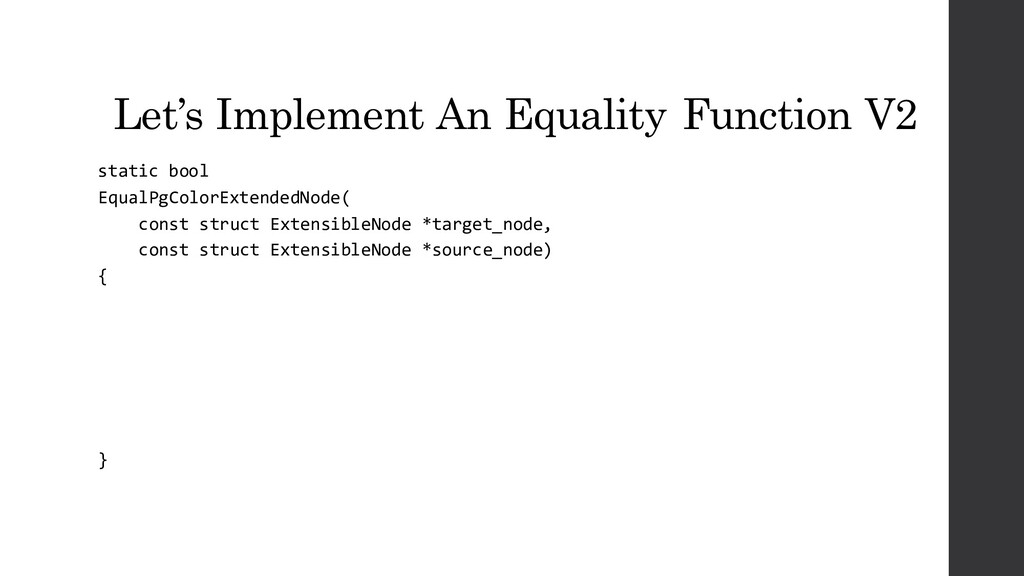 Let's Implement An Equality Function V2 static ...