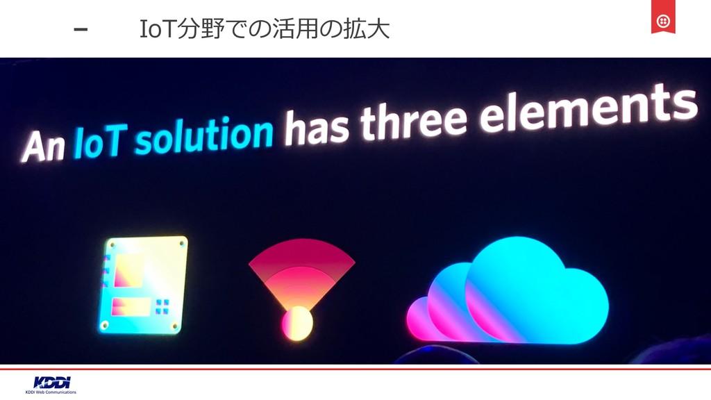 IoT分野での活⽤の拡⼤
