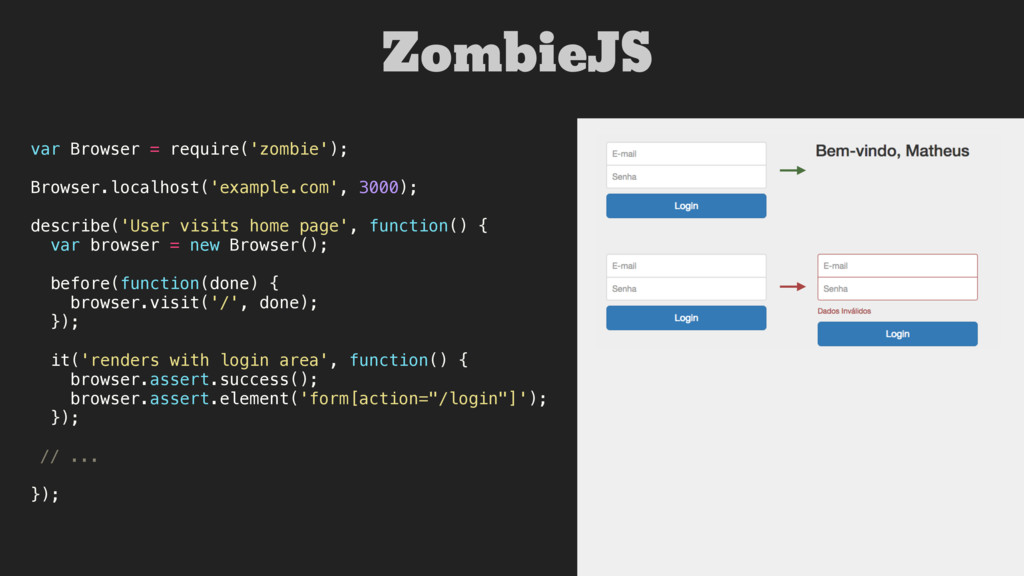 var Browser = require('zombie'); Browser.localh...