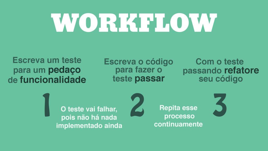 1 Escreva um teste para um pedaço de funcionali...