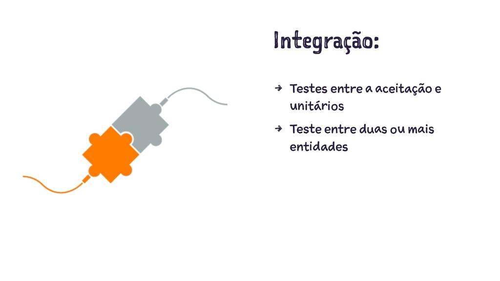 Integração: 4 Testes entre a aceitação e unitár...