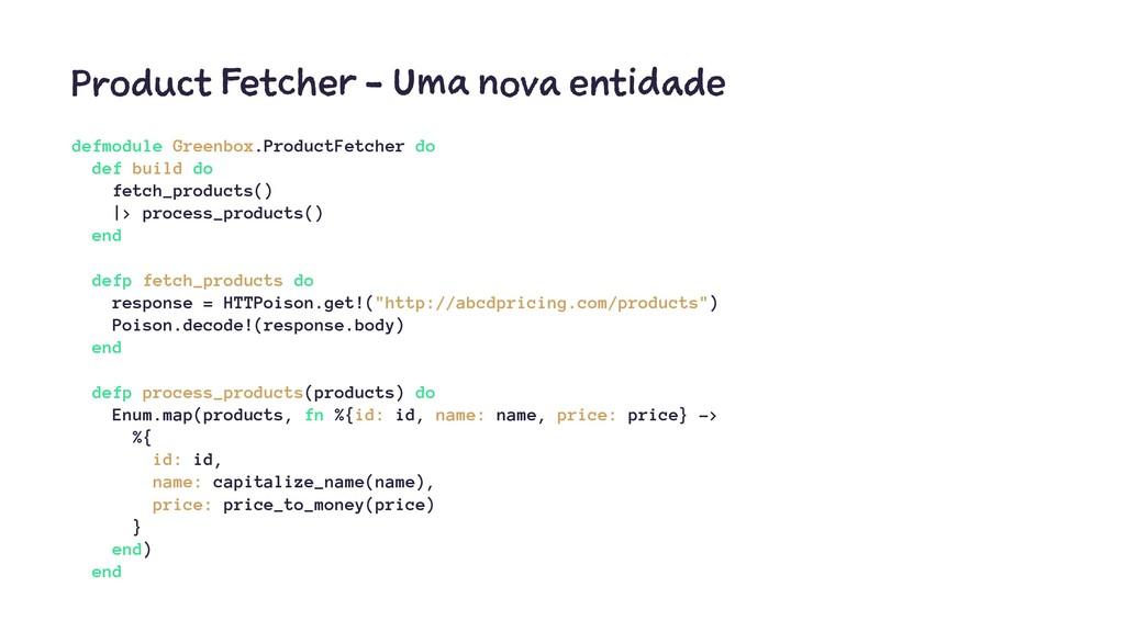 Product Fetcher - Uma nova entidade defmodule G...