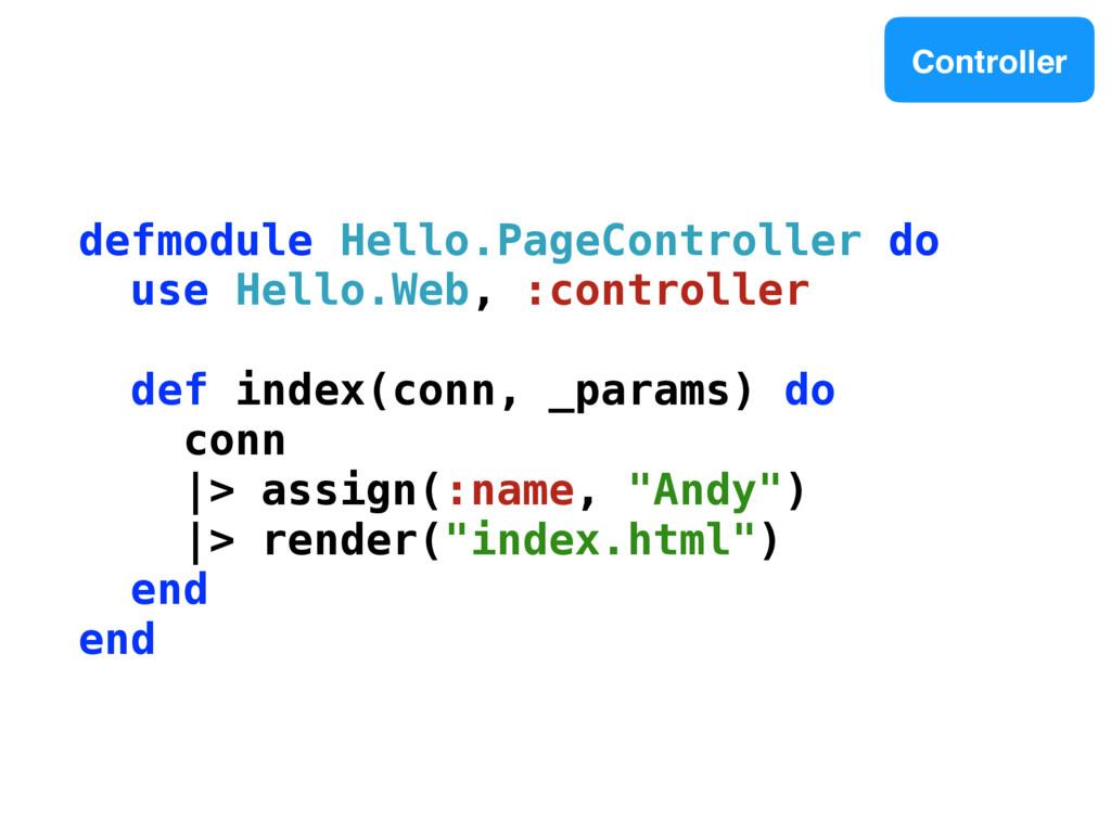 defmodule Hello.PageController do use Hello.Web...