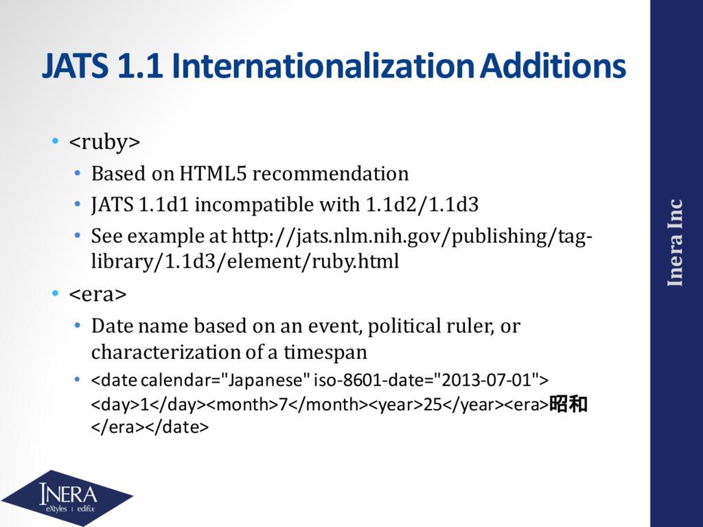 Inera Inc JATS 1.1 Internationalization Additio...