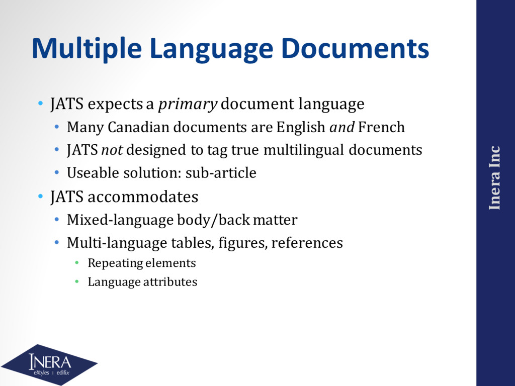 Inera Inc Multiple Language Documents • JATS ex...