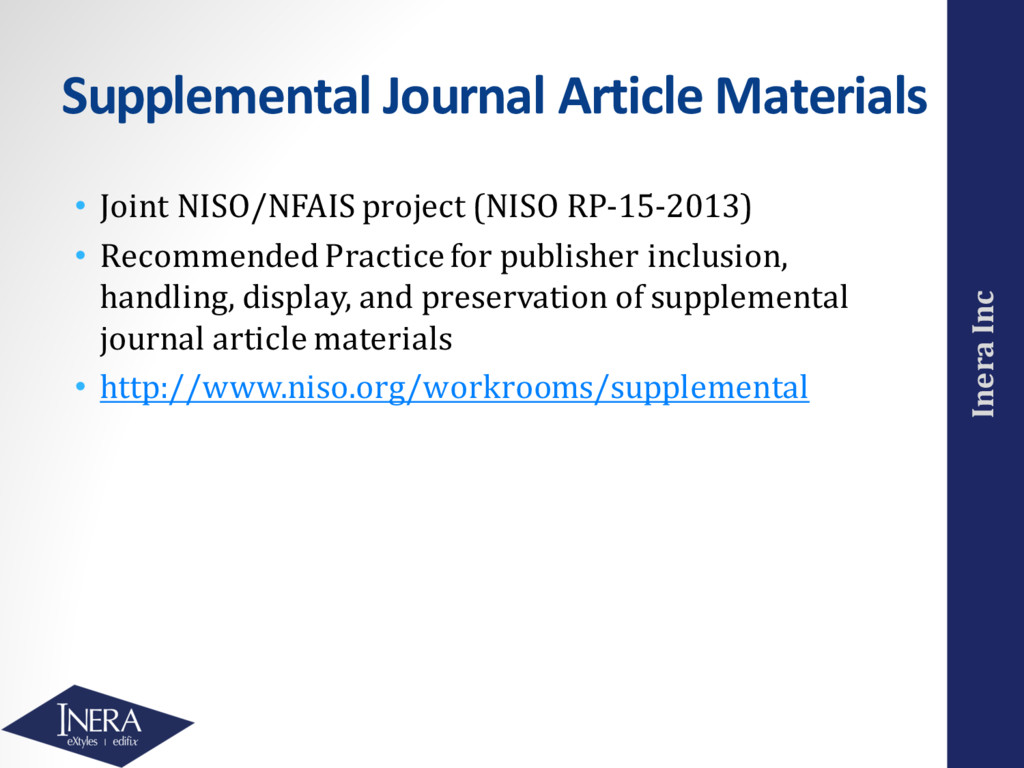 Inera Inc Supplemental Journal Article Material...
