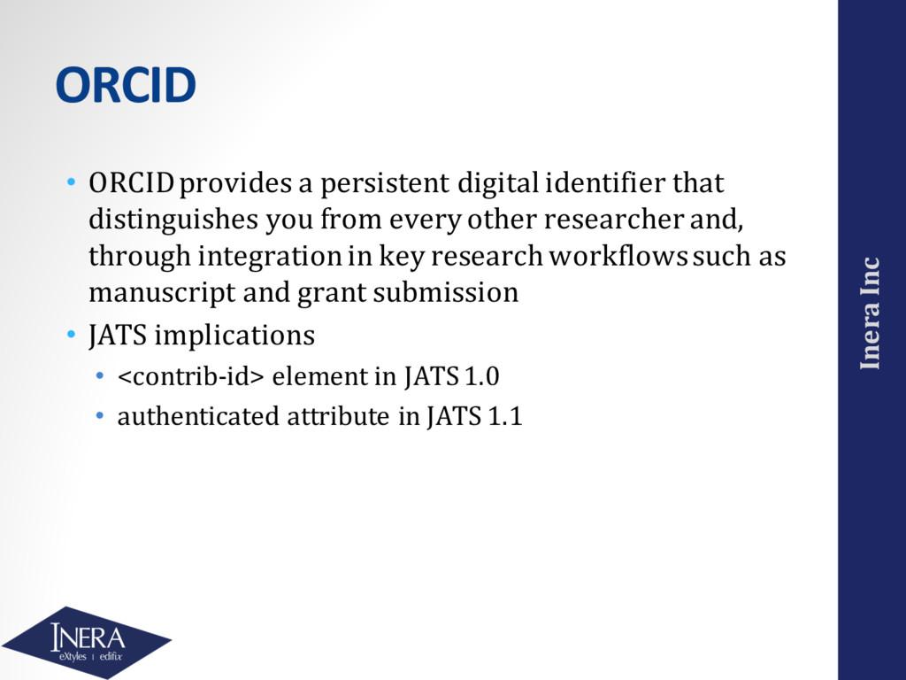 Inera Inc ORCID • ORCID provides a persistent d...